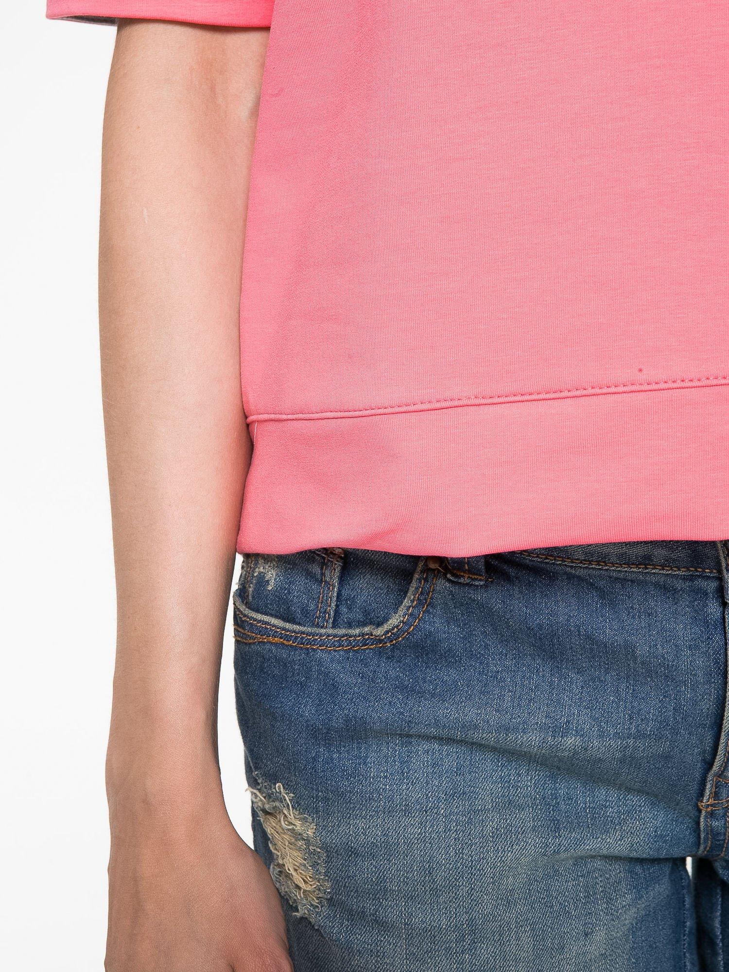 Koralowa bluza z suwakiem z tyłu                                  zdj.                                  8