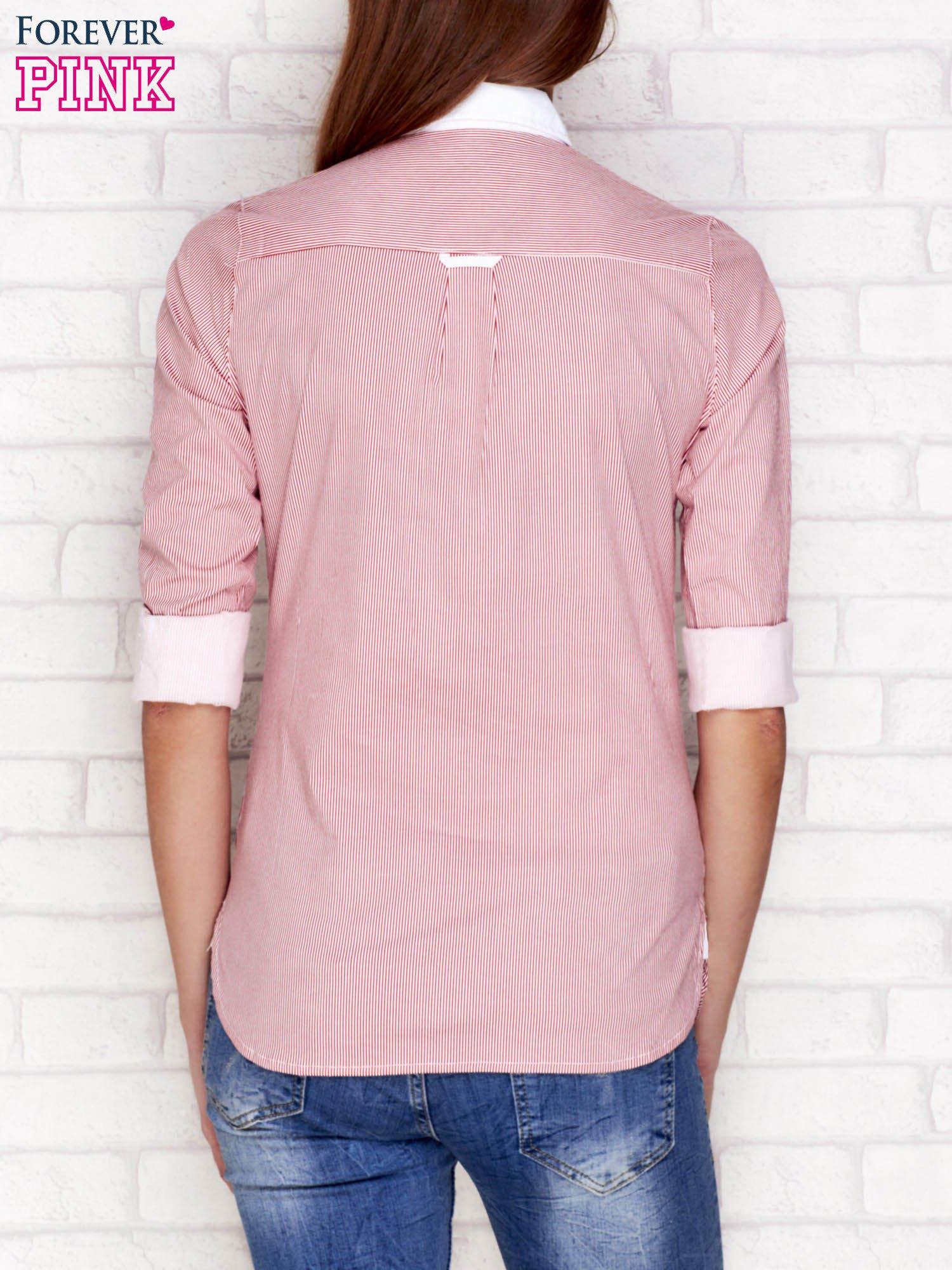 Koszula w prążki czerwona