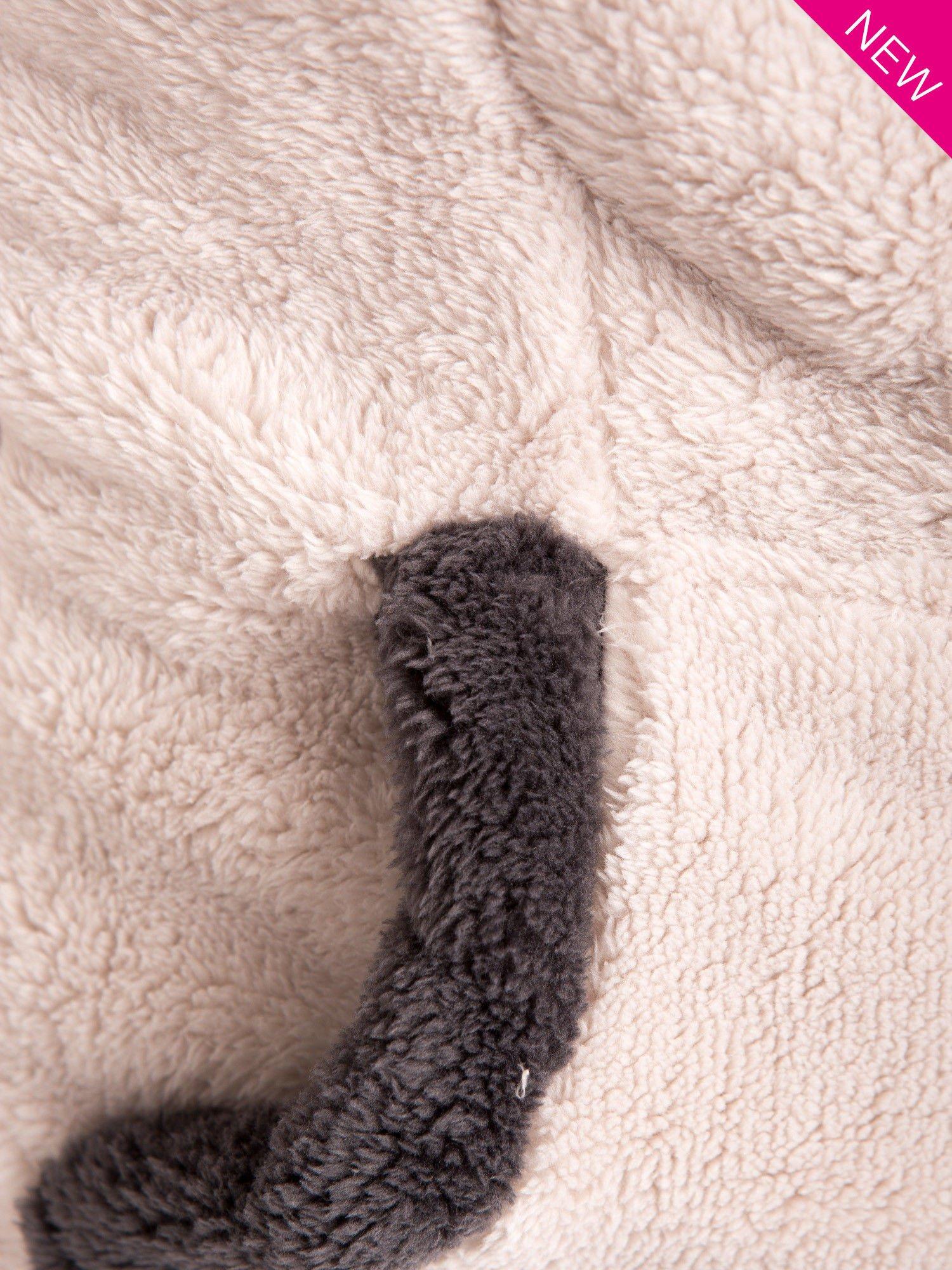 Kremowa polarowa bluza miś z kapturem z uszkami                                  zdj.                                  6