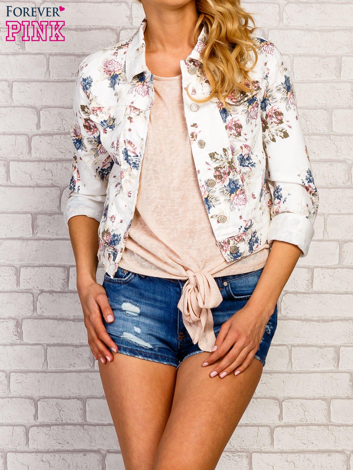 Kwiatowa kurtka jeansowa                                  zdj.                                  5