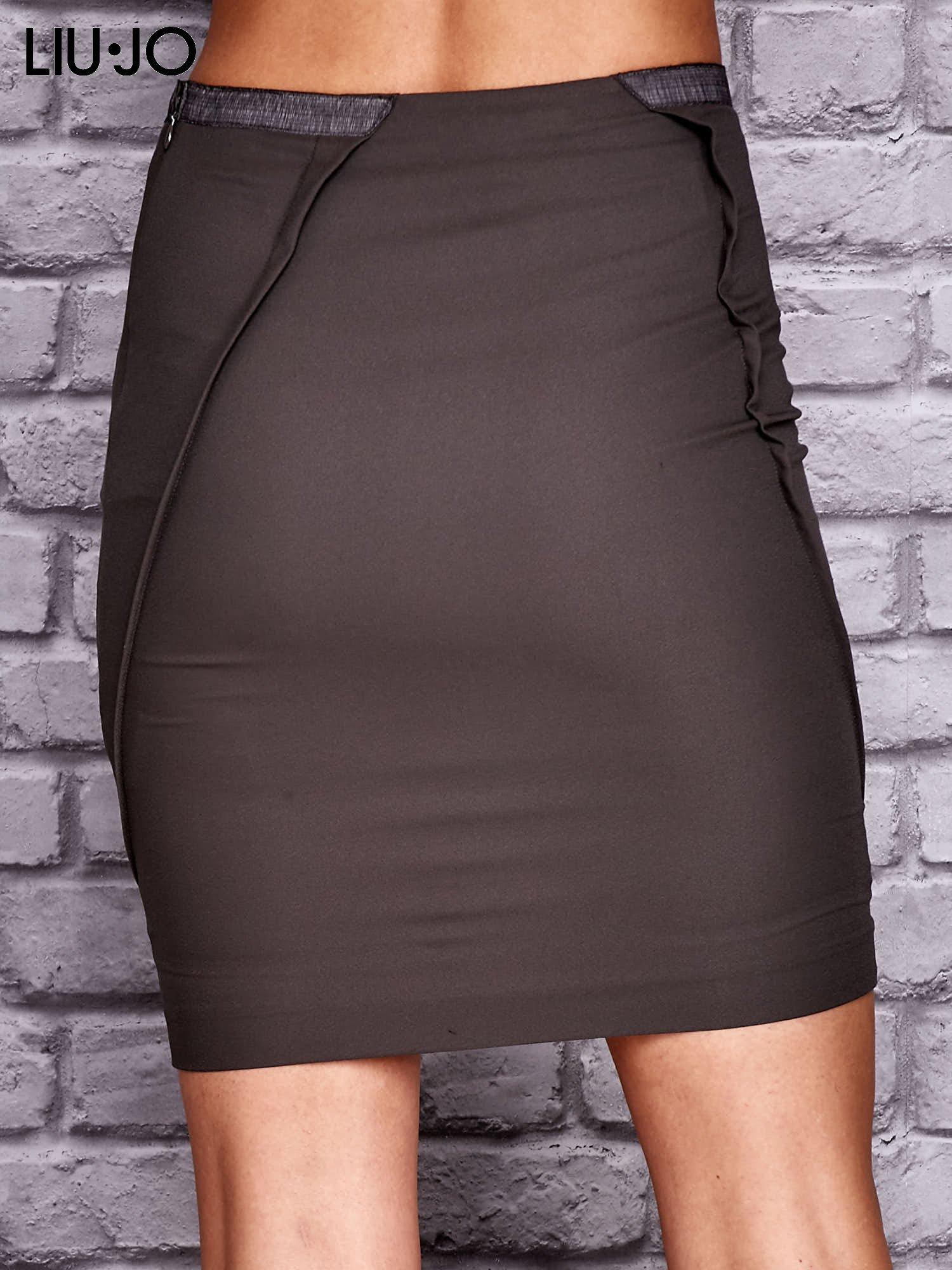 LIU JO Brązowa spódnica z zakładkami