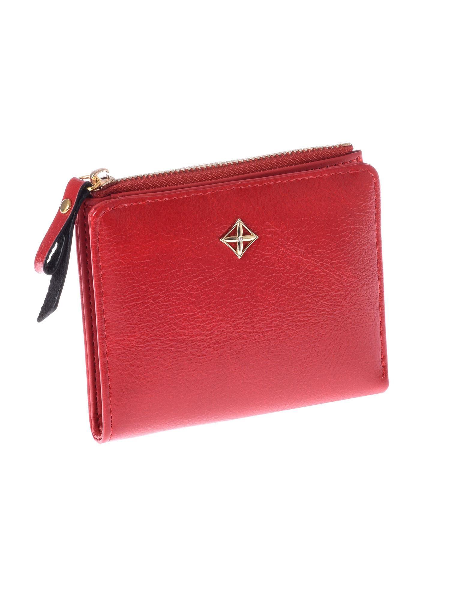66db339ee1a1e Mały czerwony płaski portfel damski - Akcesoria portfele - sklep ...