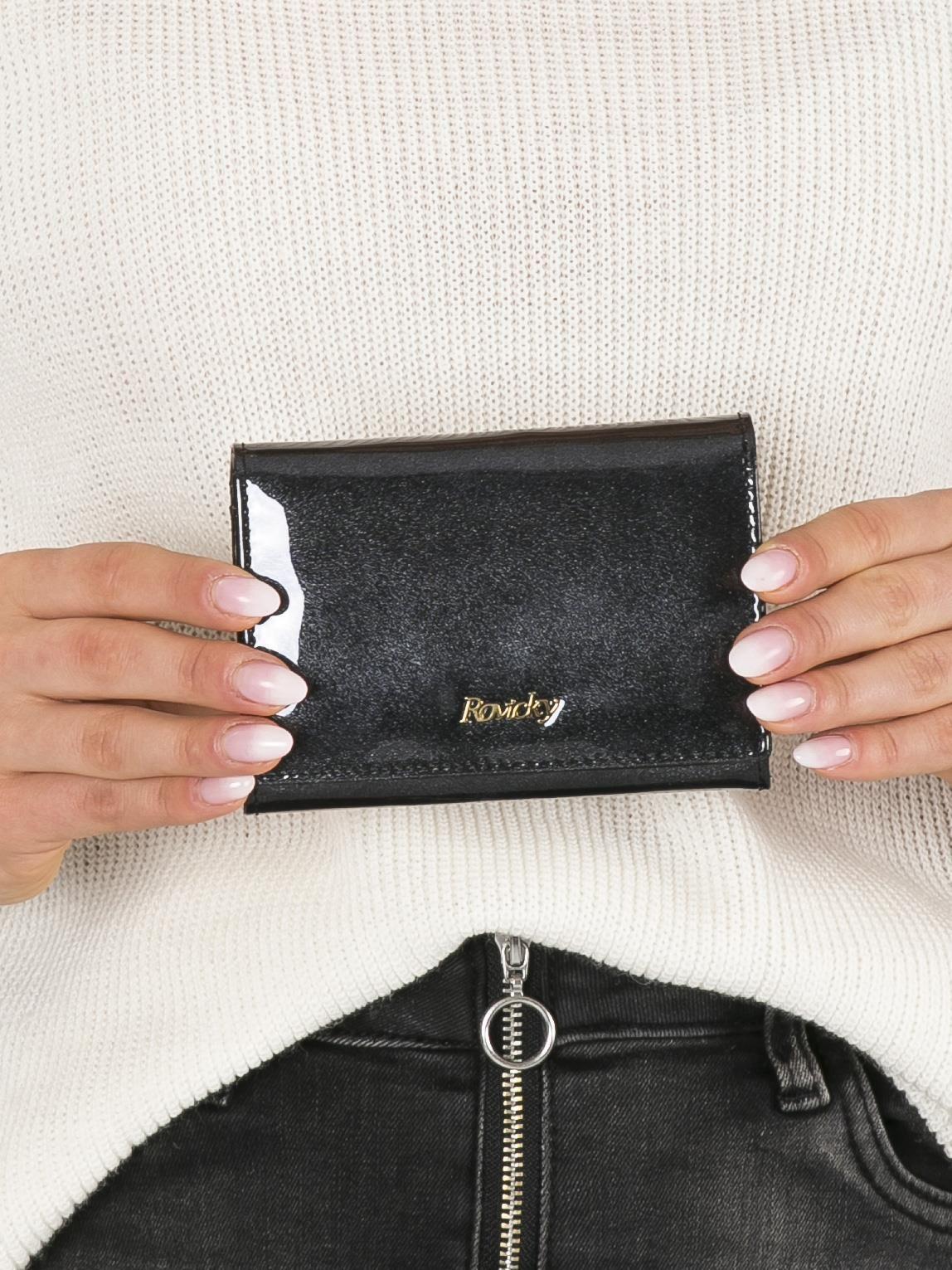9510fde65e9d5 Mały lakierowany portfel czarny - Akcesoria portfele - sklep eButik.pl