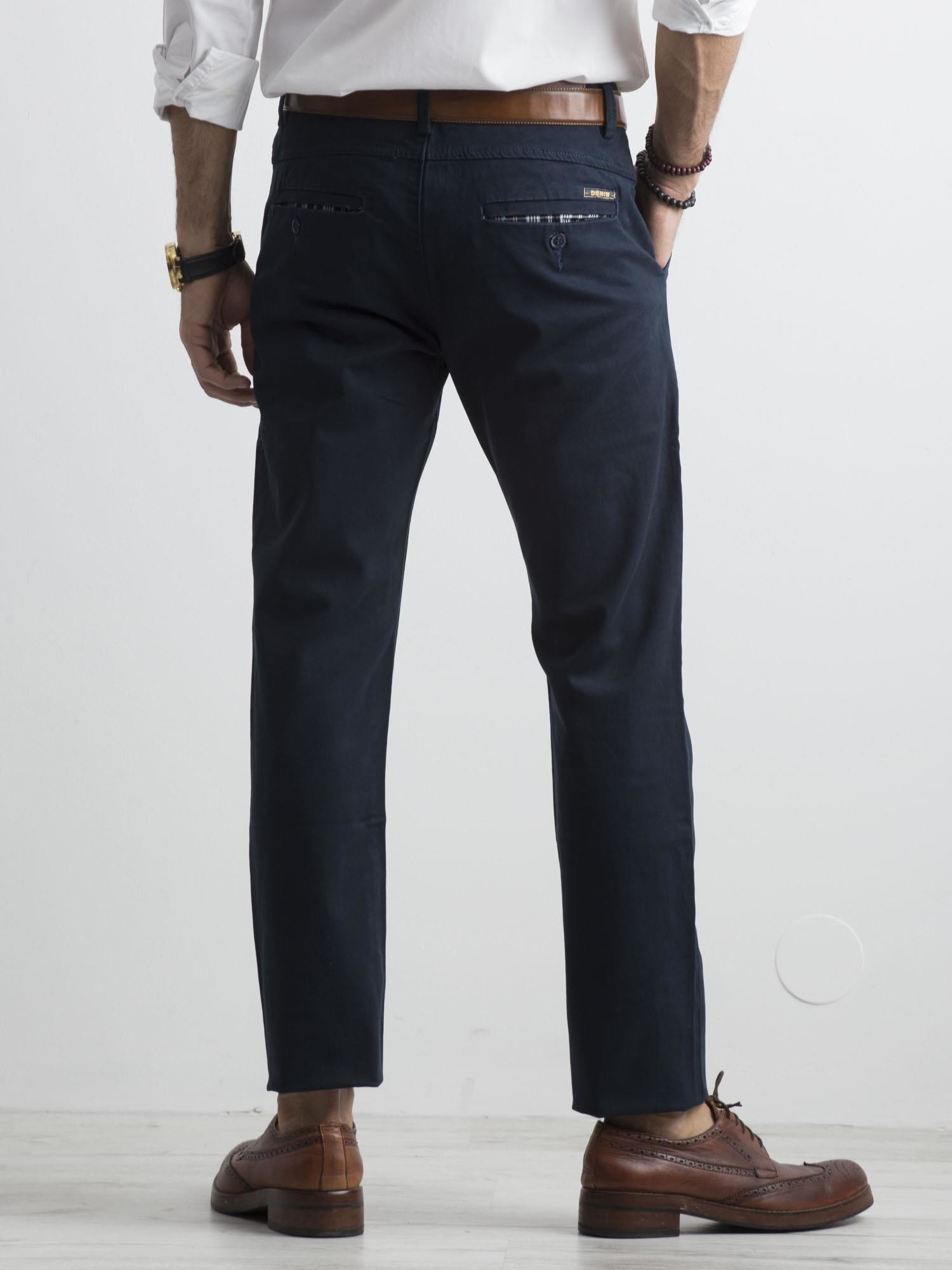 4024bb22 Męskie spodnie chino granatowe