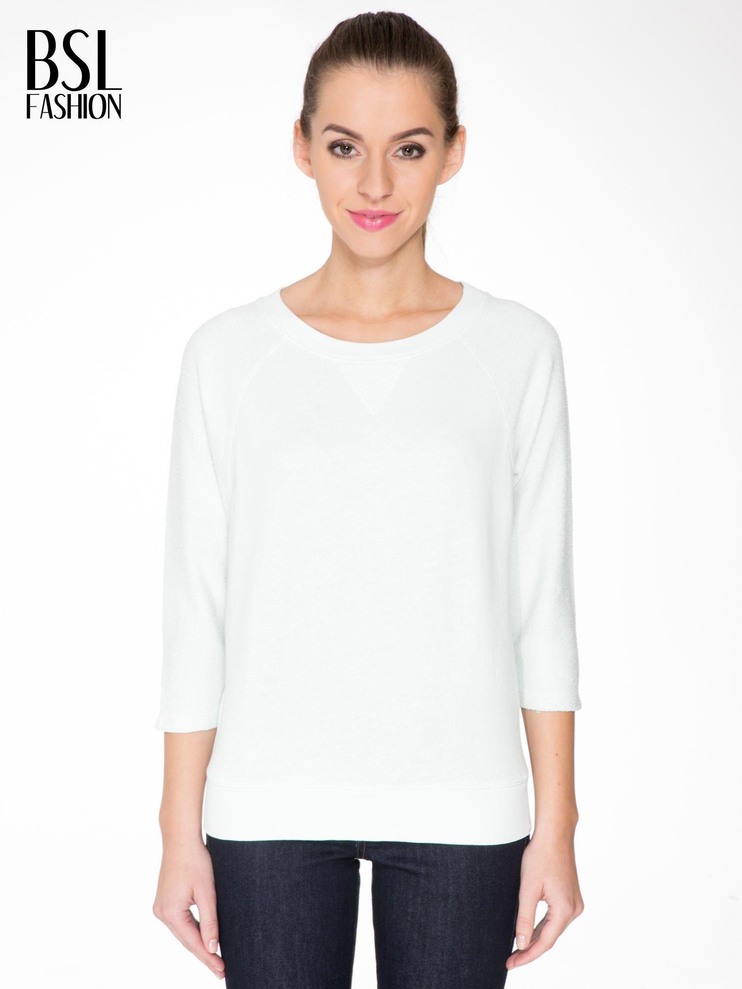 Miętowa bluza oversize z łączonych materiałów                                  zdj.                                  1