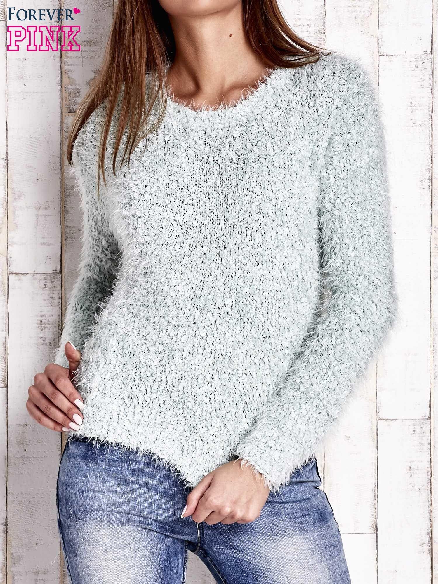 Miętowy sweter fluffy                                  zdj.                                  1