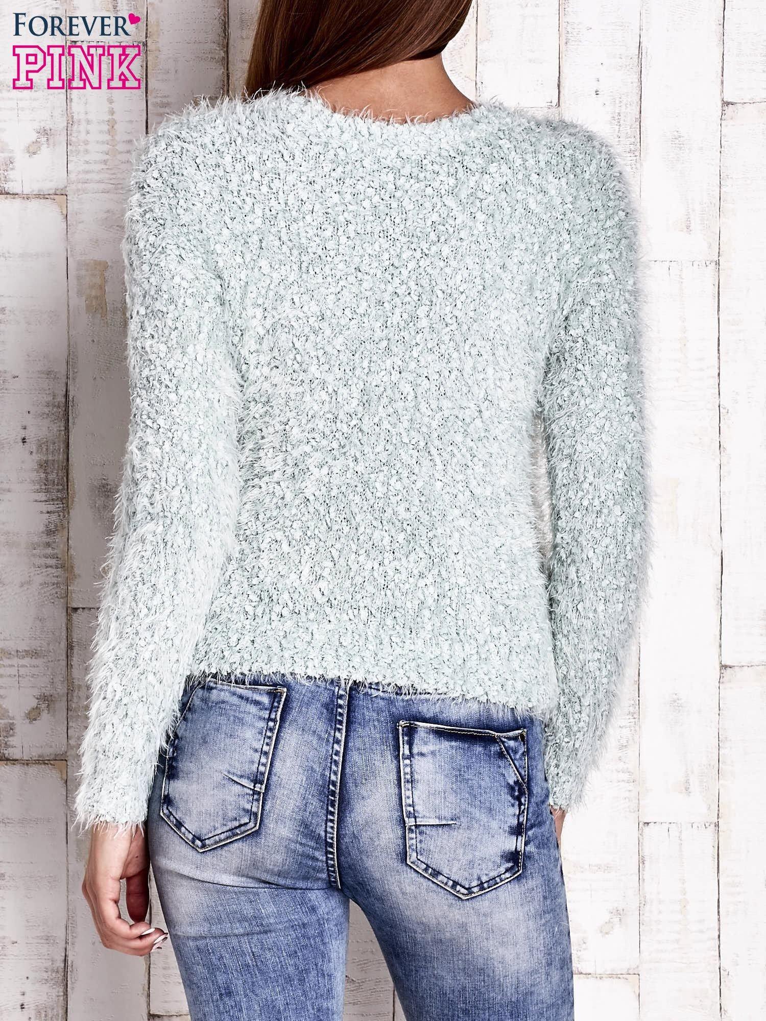 Miętowy sweter fluffy                                  zdj.                                  4