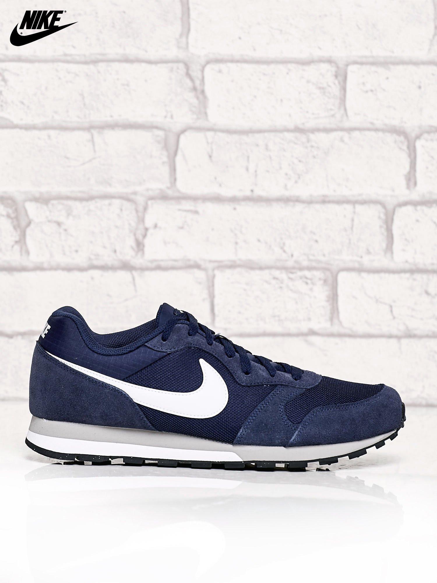 nowa wysoka jakość niesamowita cena najlepszy wybór NIKE granatowe zamszowe buty męskie sportowe MD Runner 2