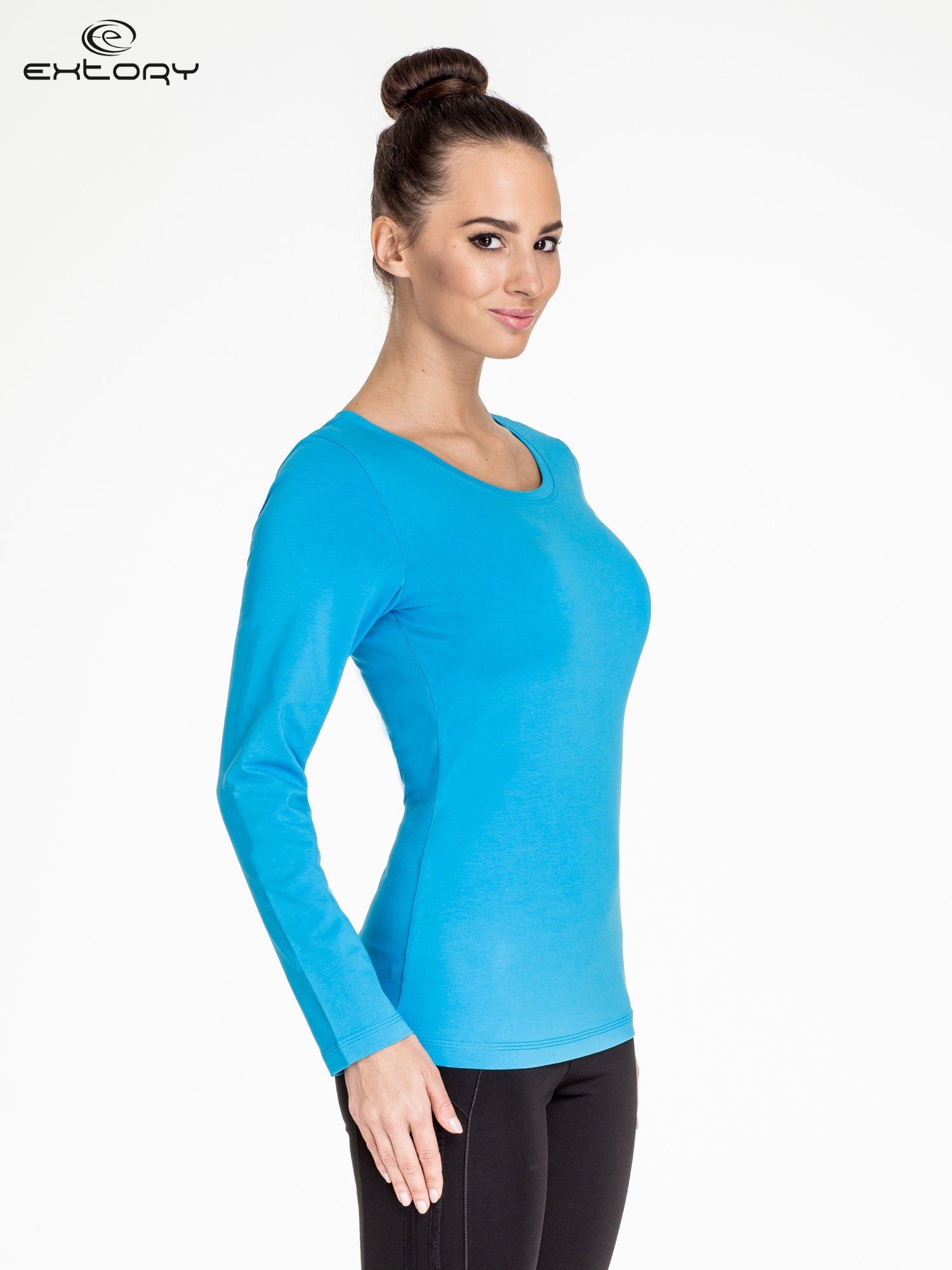 Niebieska bluzka sportowa basic PLUS SIZE                                  zdj.                                  3