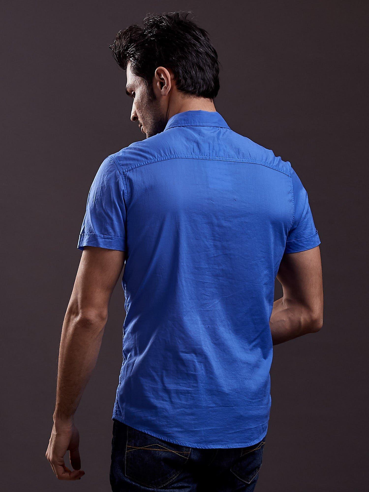 Niebieska gładka koszula męska Funk n Soul                                  zdj.                                  4