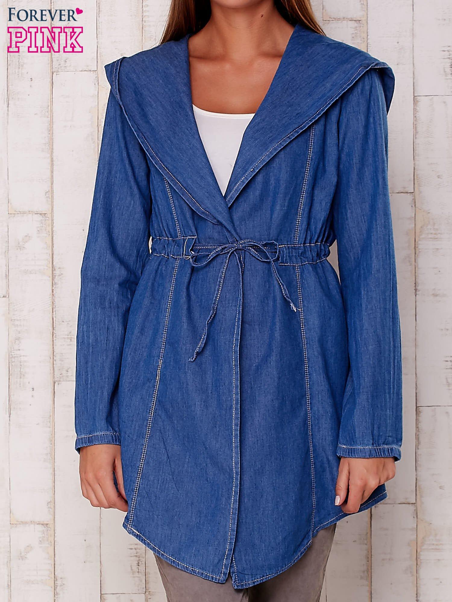 6250114fe6b6c Z Koszula Kapturem Jeansowa Narzutka Niebieska wHtAfA