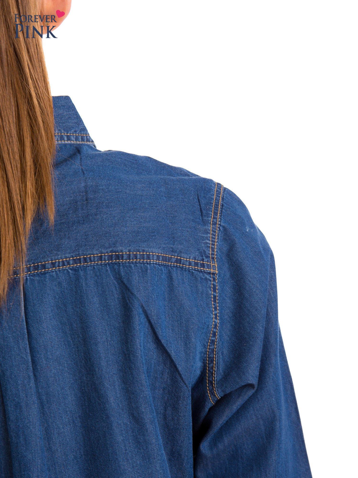 Niebieska jeansowa koszula z przetarciami                                  zdj.                                  9