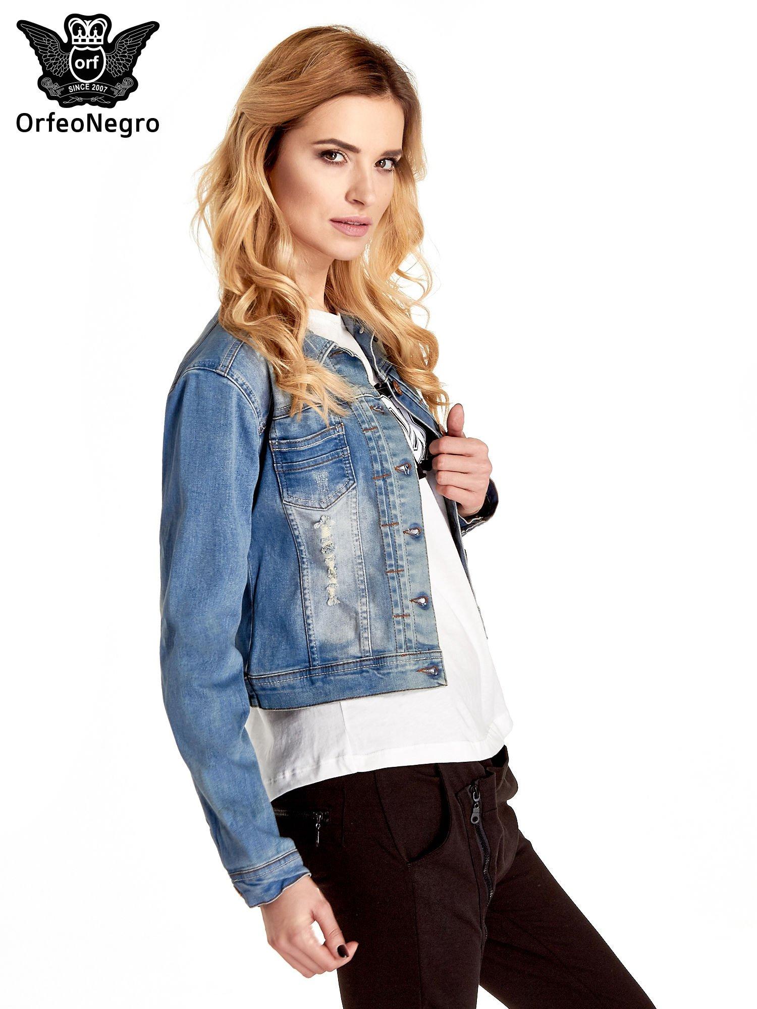 Mink Pink damska kurtka dżinsy minia tunic Denim - kurtka jeansowa 36 niebieski.