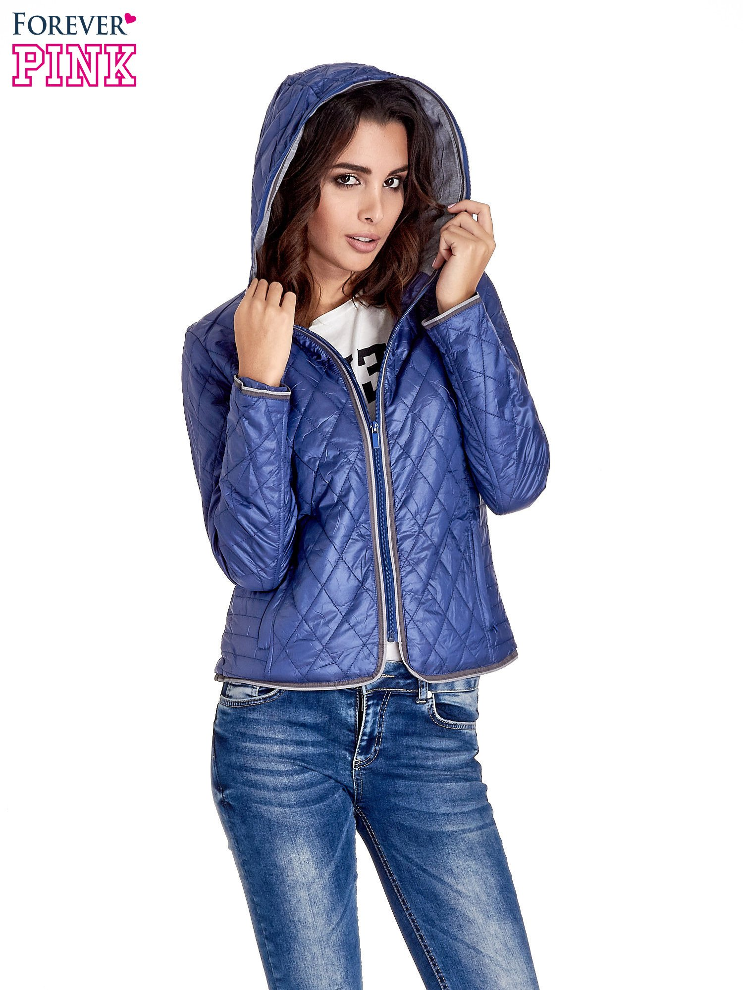 Niebieska pikowana kurtka typu husky                                  zdj.                                  8