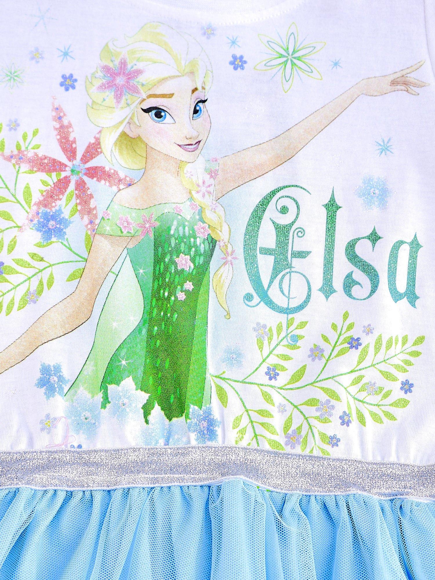 a1e4268822 3 · Niebieska sukienka dla dziewczynki z brokatowym paskiem FROZEN ...