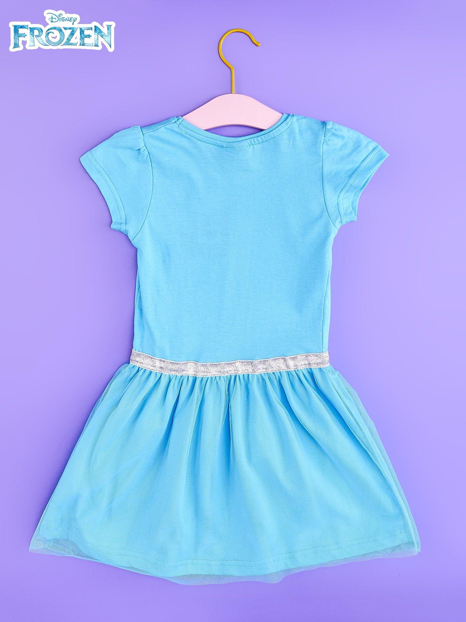 2adbcc2104 Znany Niebieska sukienka dla dziewczynki z tiulowym wykończeniem FROZEN   XD-58