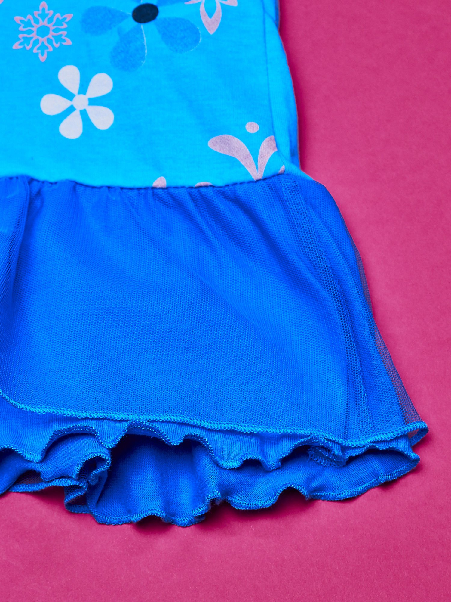 Niebieska sukienka dla dziewczynki z tiulowym wykończeniem FROZEN                                  zdj.                                  5
