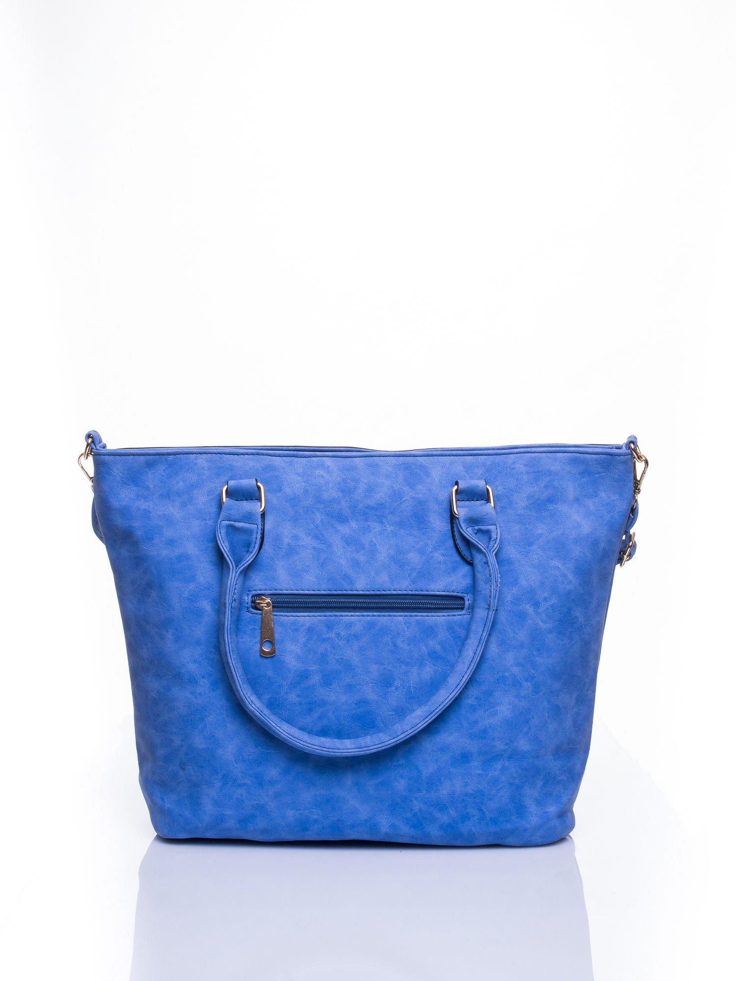 Niebieska torba city bag na ramię                                  zdj.                                  3