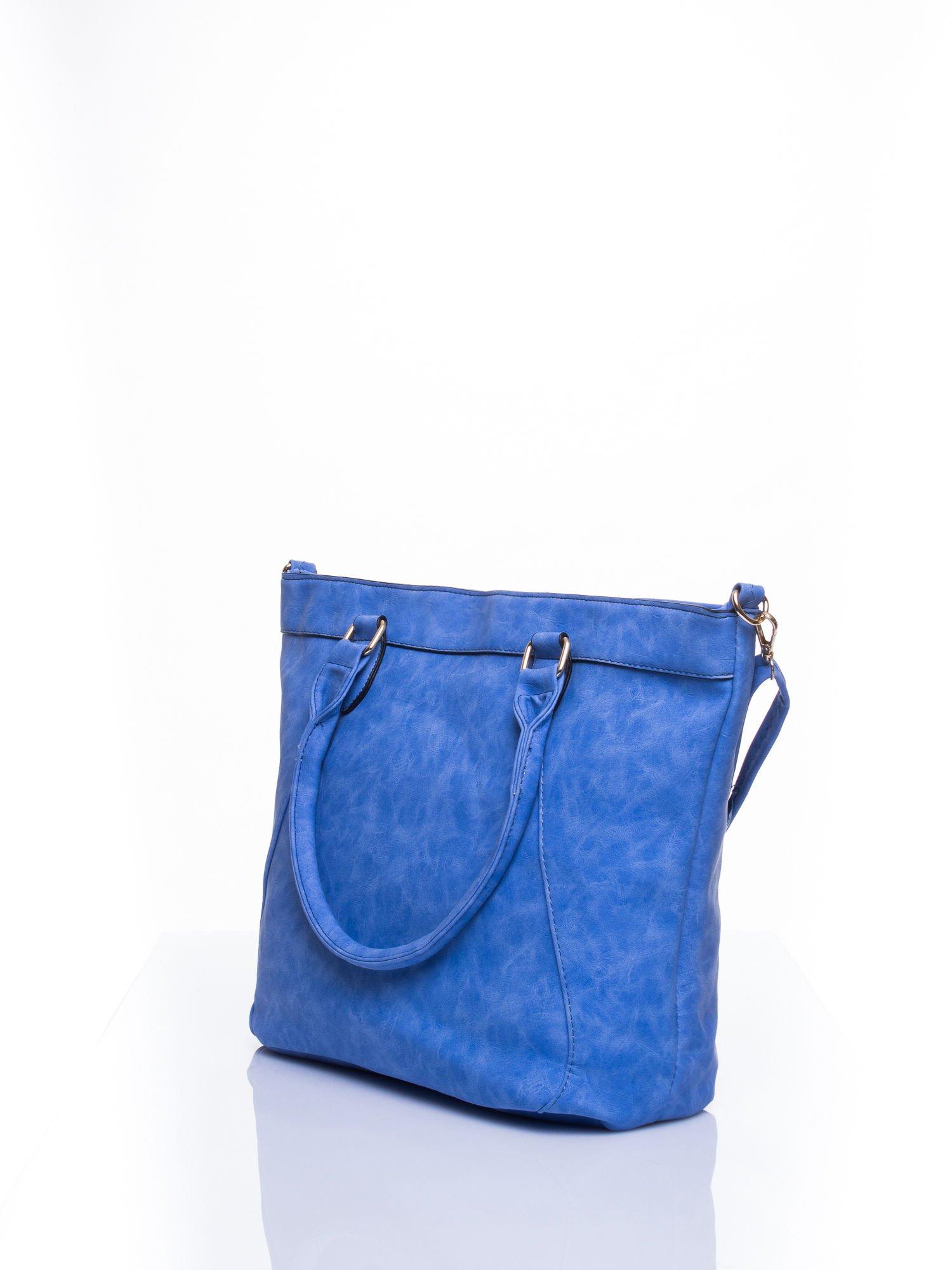 Niebieska torba city bag na ramię                                  zdj.                                  4