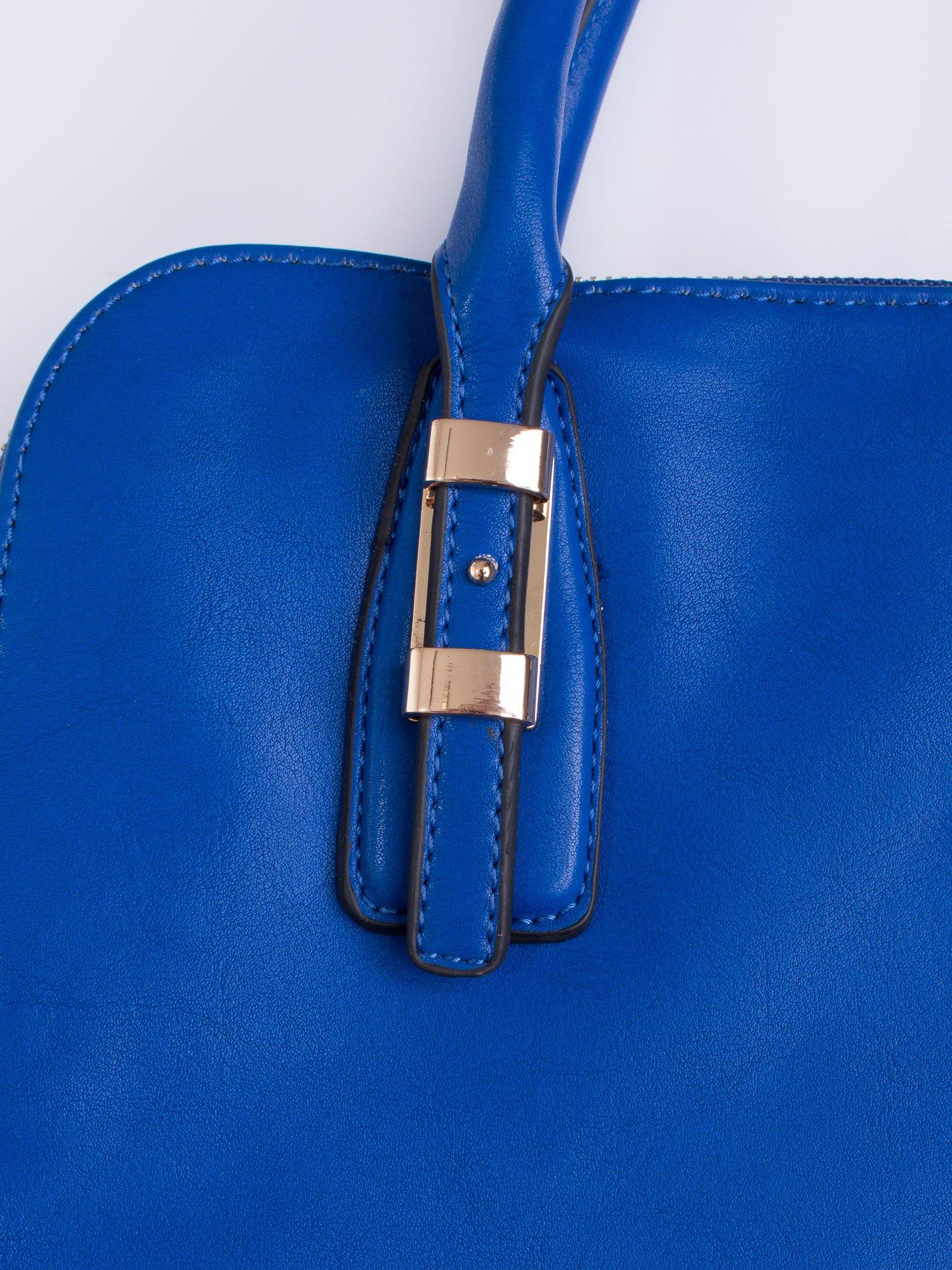 Niebieska torba z wstawkami animal print                                  zdj.                                  6