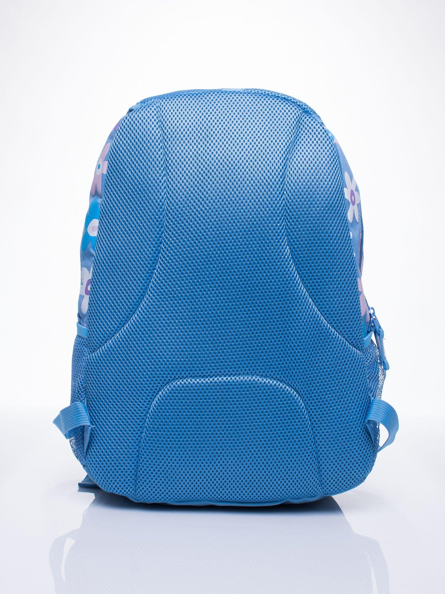 Niebieski plecak dla dziewczynki DISNEY w kwiatki                                  zdj.                                  4