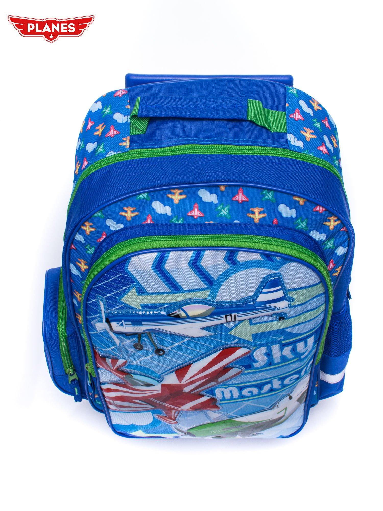 Niebieski plecak szkolny na kółkach walizka DISNEY Samoloty                                  zdj.                                  5