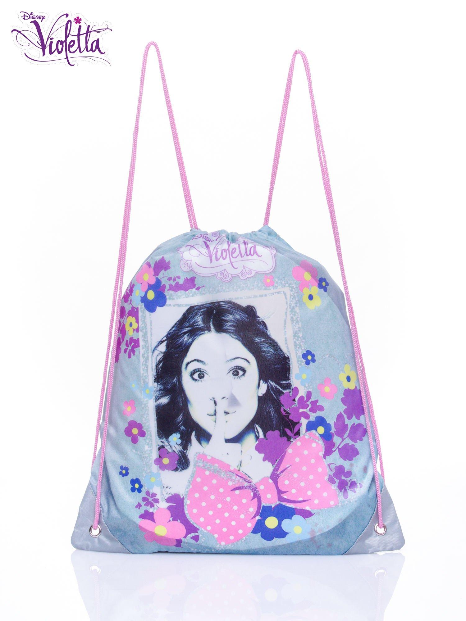 Niebieski plecak worek DISNEY Violetta                                  zdj.                                  1