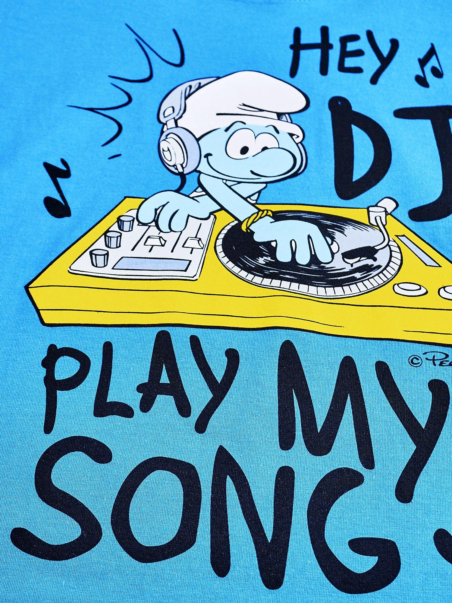 Niebieski t-shirt chłopięcy SMERFY                                  zdj.                                  4