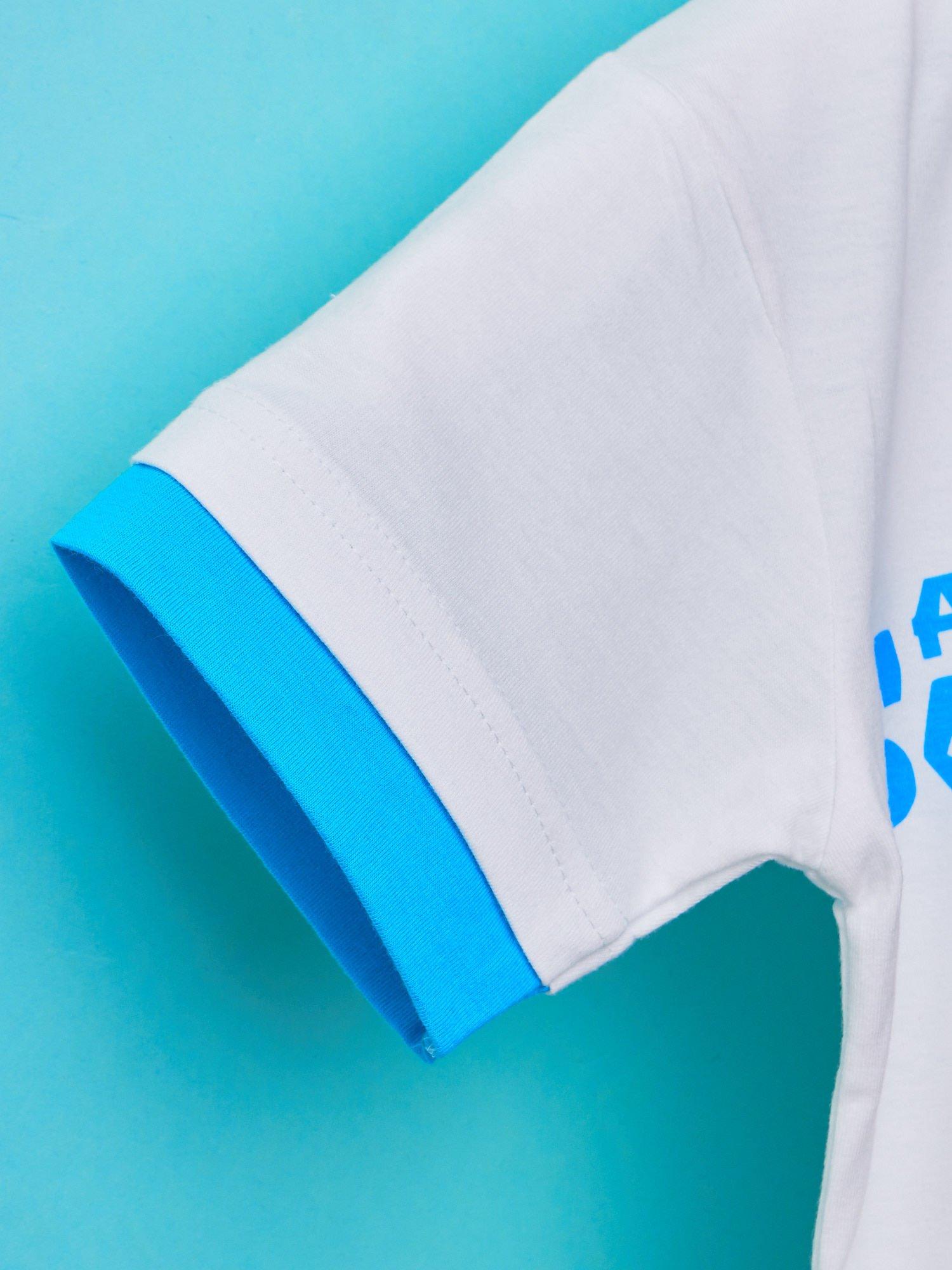 Niebieski t-shirt chłopięcy UNIWERSYTET POTWORNY                                  zdj.                                  5