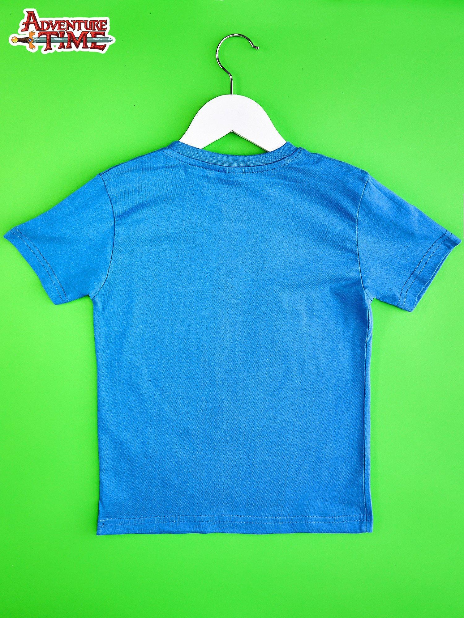 Niebieski t-shirt chłopięcy  motywem ADVENTURE TIME                                   zdj.                                  2