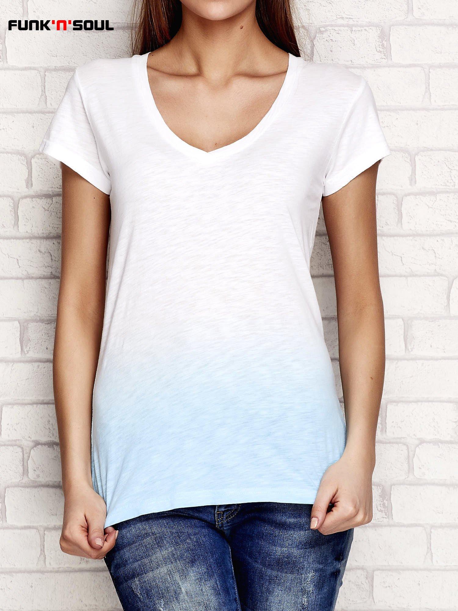 a3f1620629 Niebieski t-shirt ombre FUNK N SOUL - T-shirt z nadrukiem - sklep ...