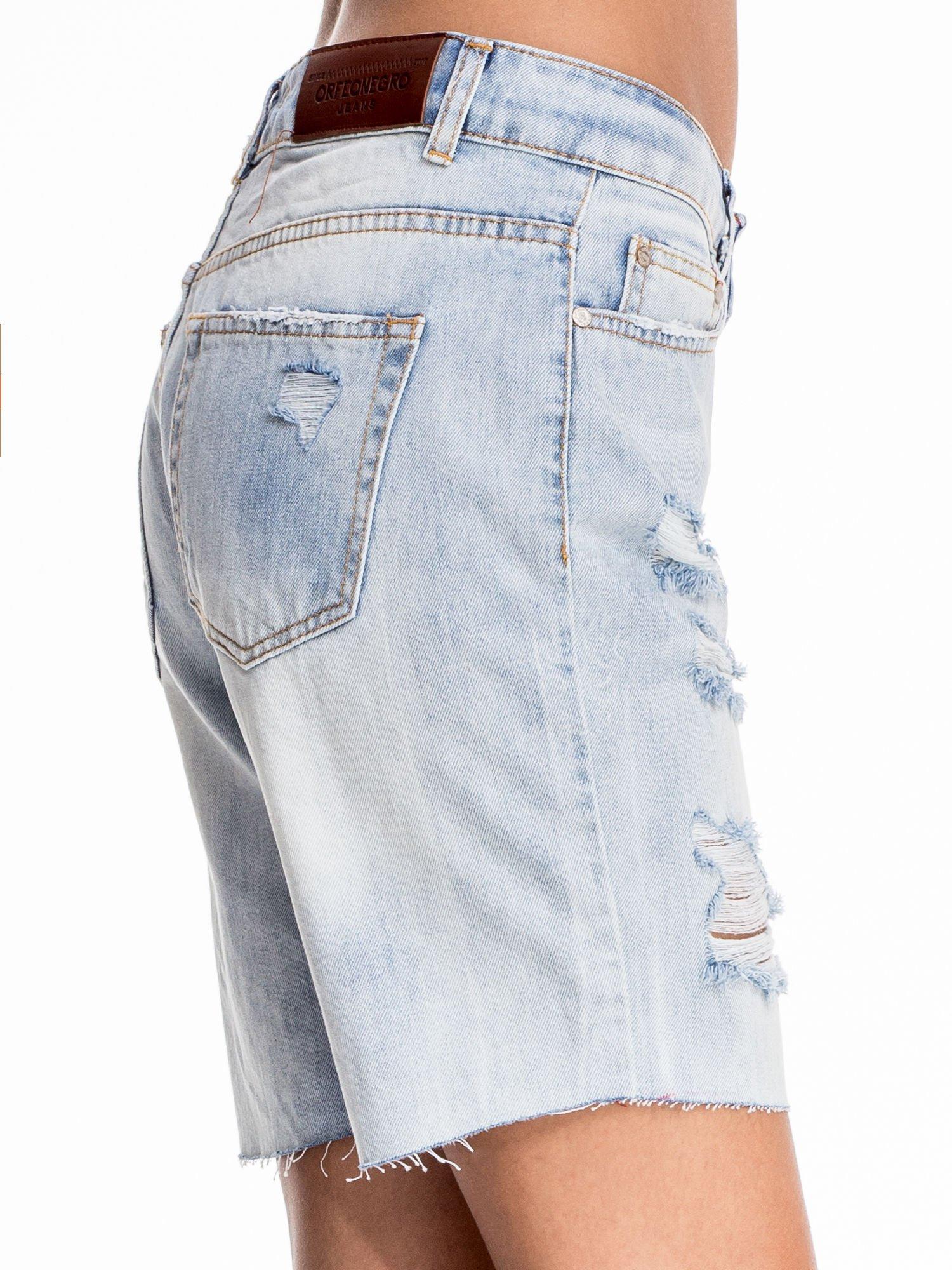 Niebieskie jeansowe szorty a'la bermudy                                  zdj.                                  7