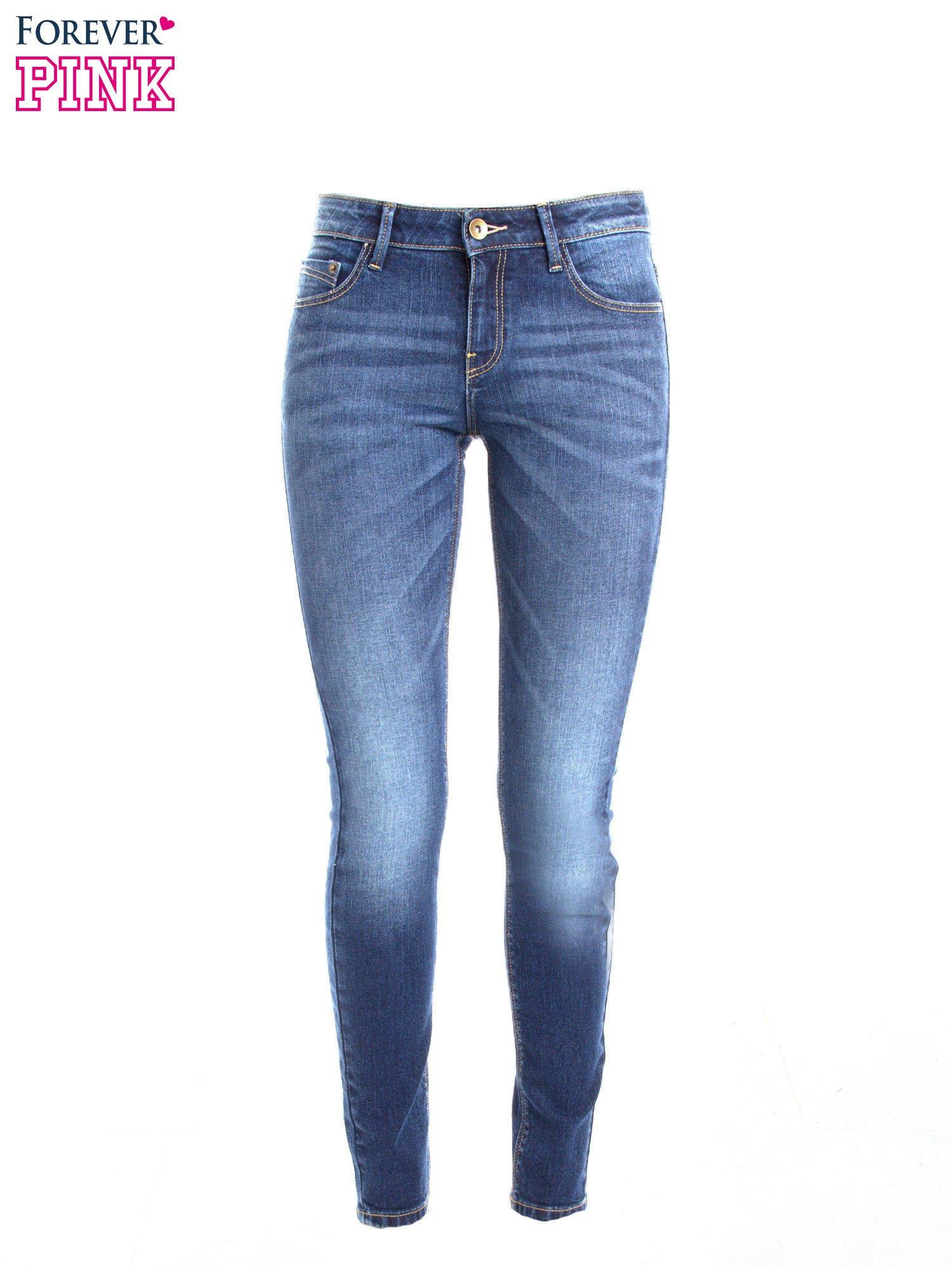 Niebieskie jeansy slim fit                                  zdj.                                  1