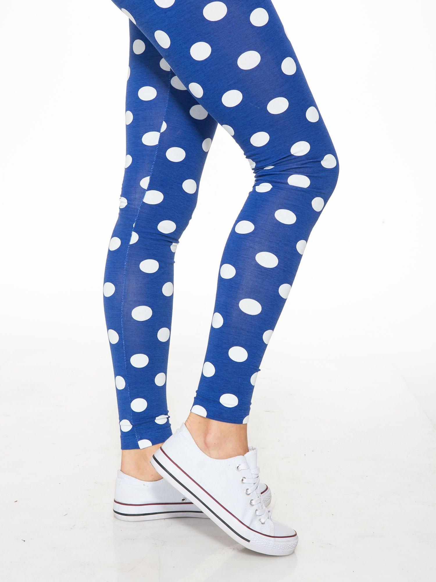 Niebieskie legginsy w grochy                                  zdj.                                  7