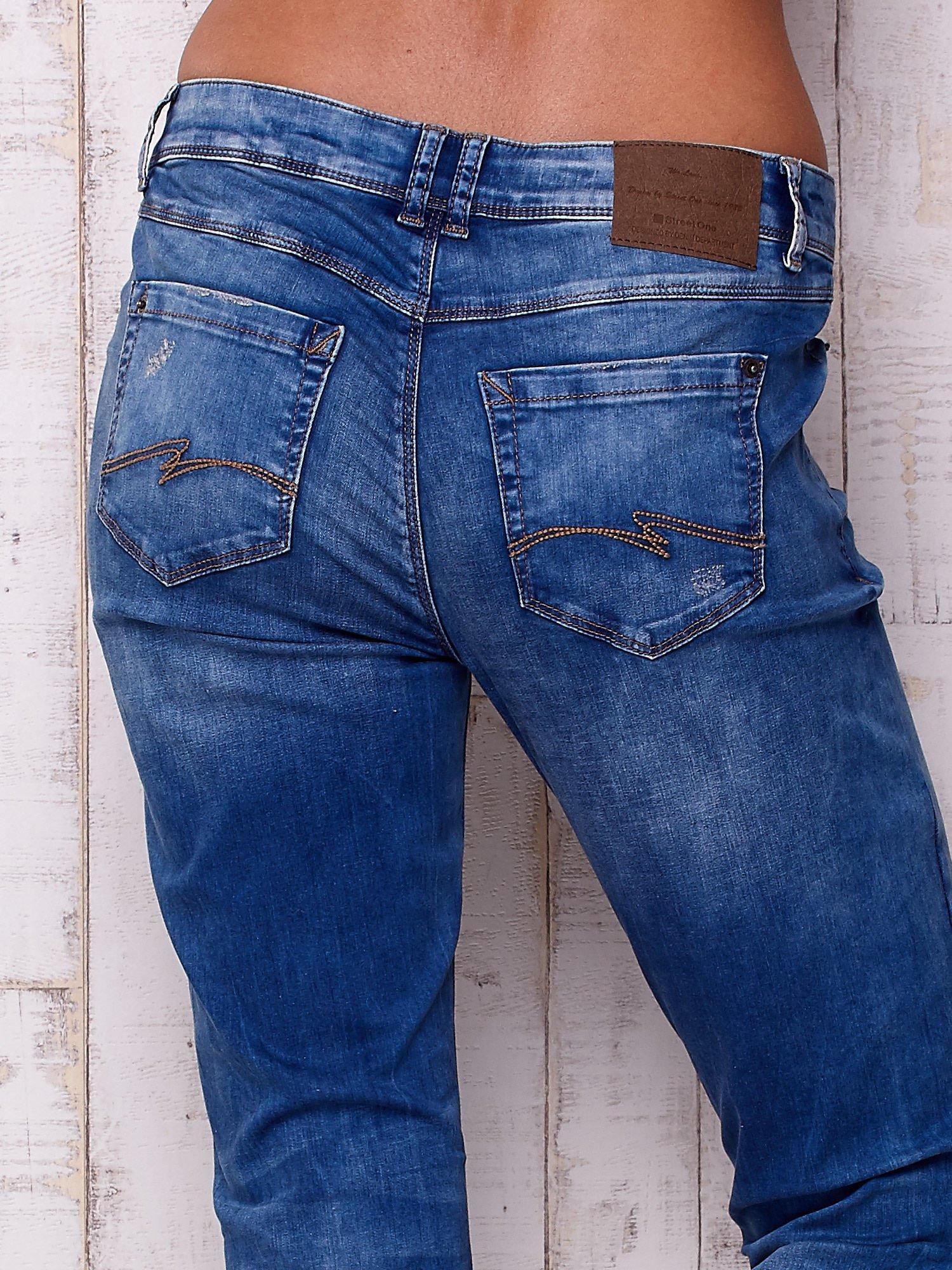 Niebieskie spodnie jeansowe marble denim                                  zdj.                                  5