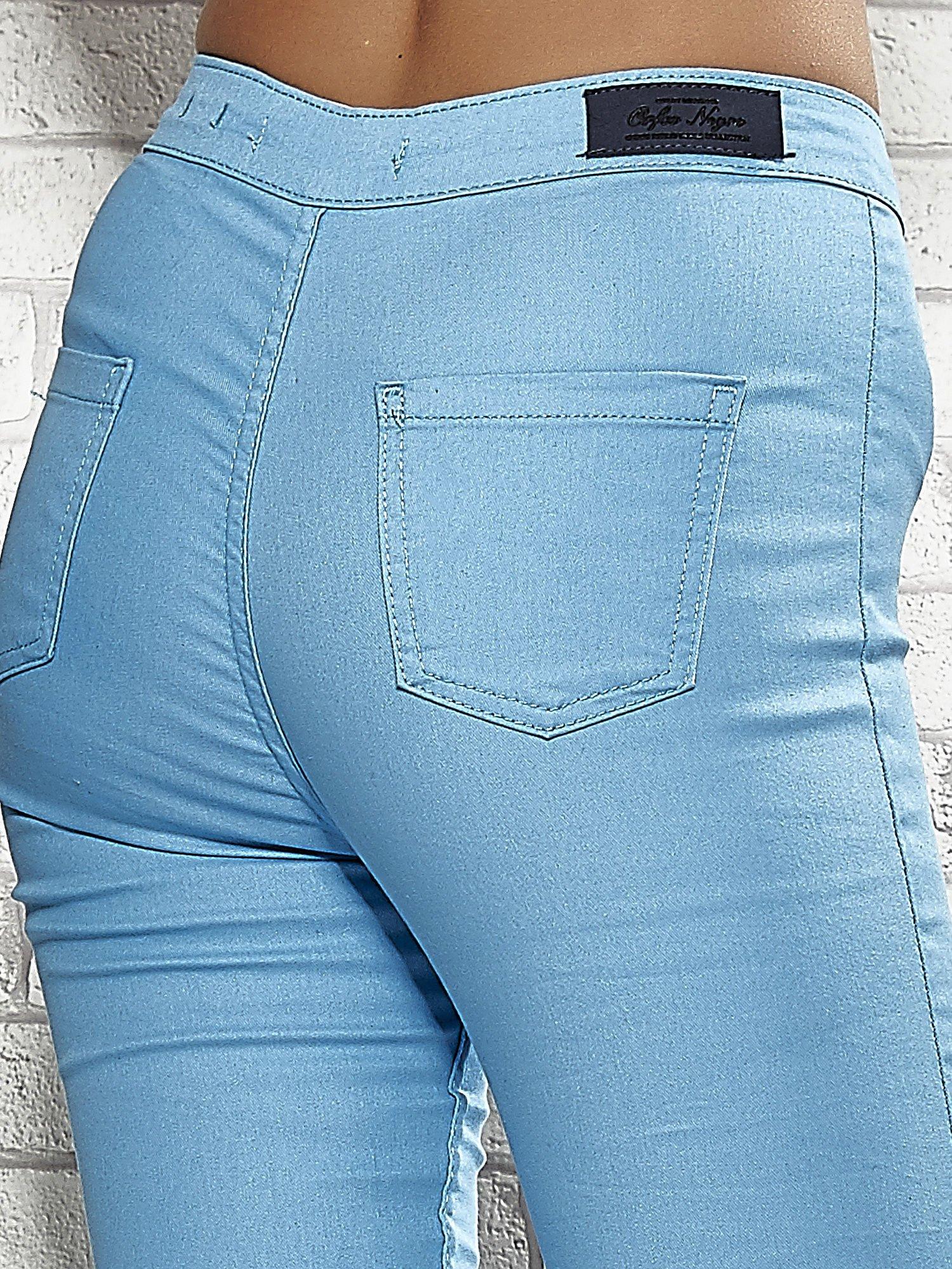 Niebieskie spodnie rurki skinny                                  zdj.                                  6