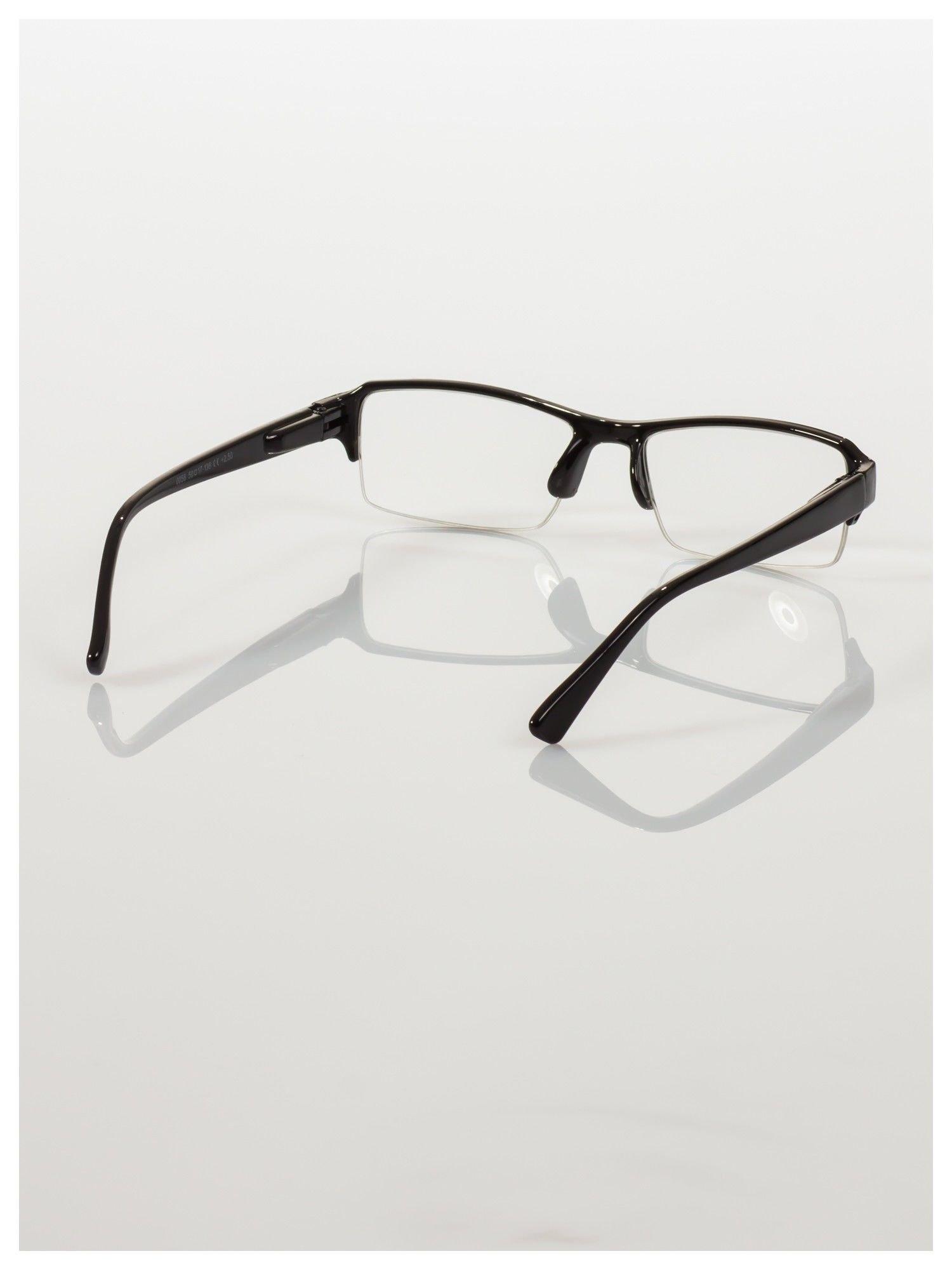 Okulary korekcyjne +3.0 D do czytania z systemem FLEX na zausznikach +GRATIS PLASTIKOWE ETUI I ŚCIERECZKA Z MIKROFIBRY                                  zdj.                                  5