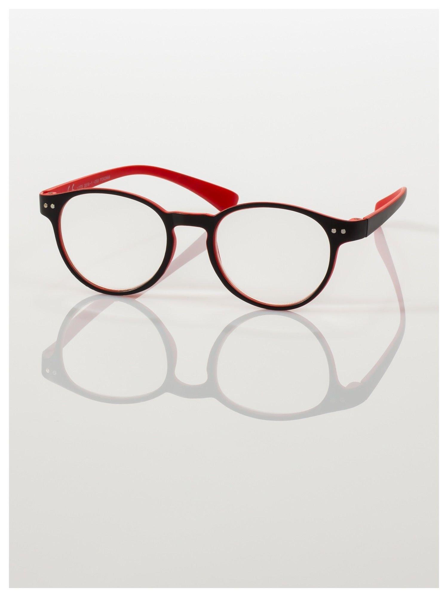 Okulary korekcyjne  +4.0 D dwukolorowe ,do czytania, stylizowane na RAY BAN +GRATIS PLASTIKOWE ETUI I ŚCIERECZKA Z MIKROFIBRY                                  zdj.                                  2