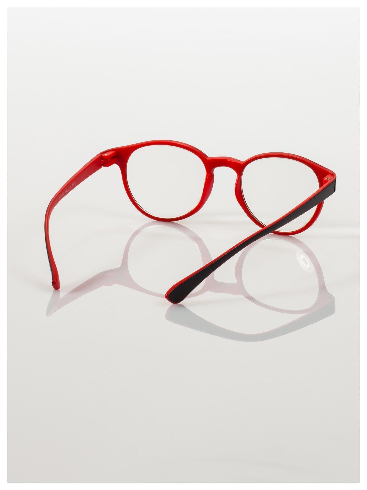 Okulary korekcyjne  +4.0 D dwukolorowe ,do czytania, stylizowane na RAY BAN +GRATIS PLASTIKOWE ETUI I ŚCIERECZKA Z MIKROFIBRY                                  zdj.                                  4