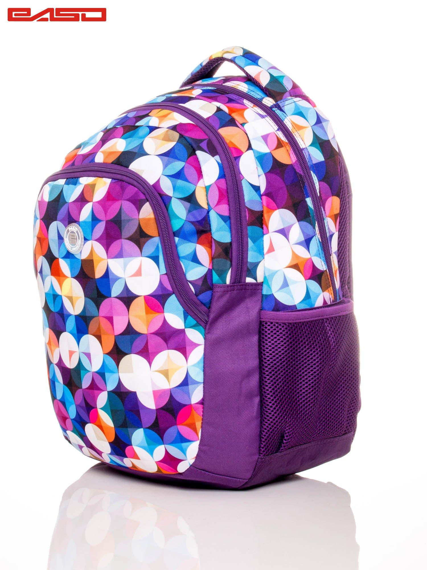 Plecak szkolny z kolorowym nadrukiem