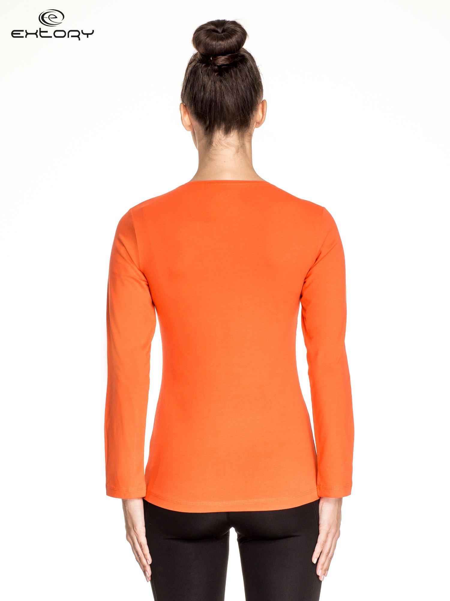 Pomarańczowa bluzka sportowa basic PLUS SIZE                                  zdj.                                  4
