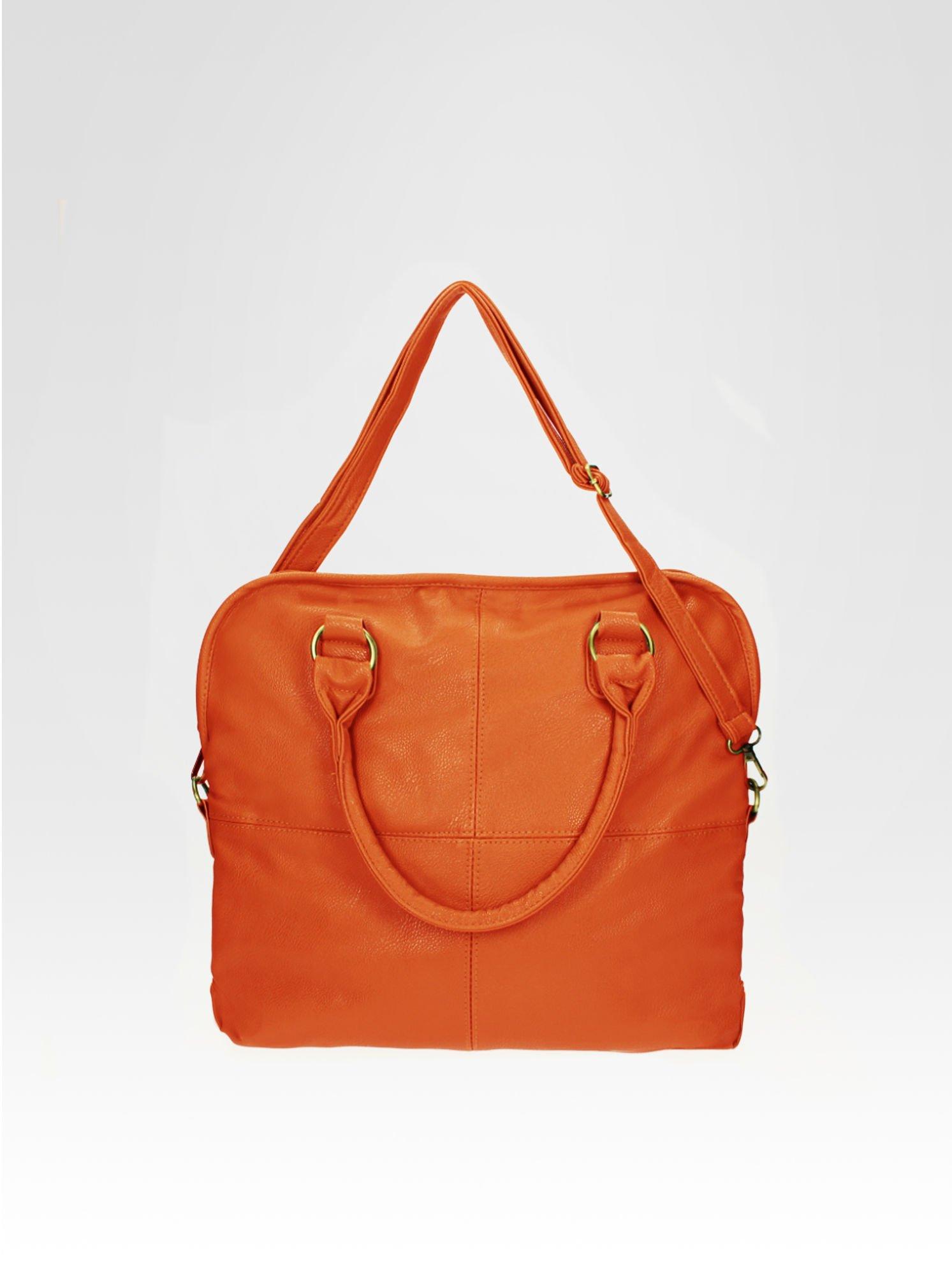 Pomarańczowa torba miejska na ramię                                  zdj.                                  5