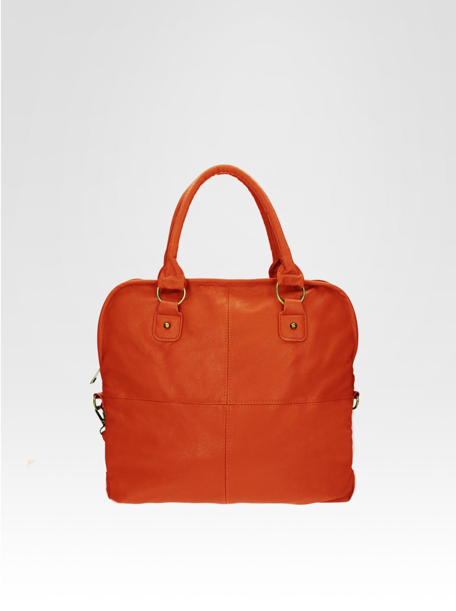 Pomarańczowa torba miejska na ramię                                  zdj.                                  4