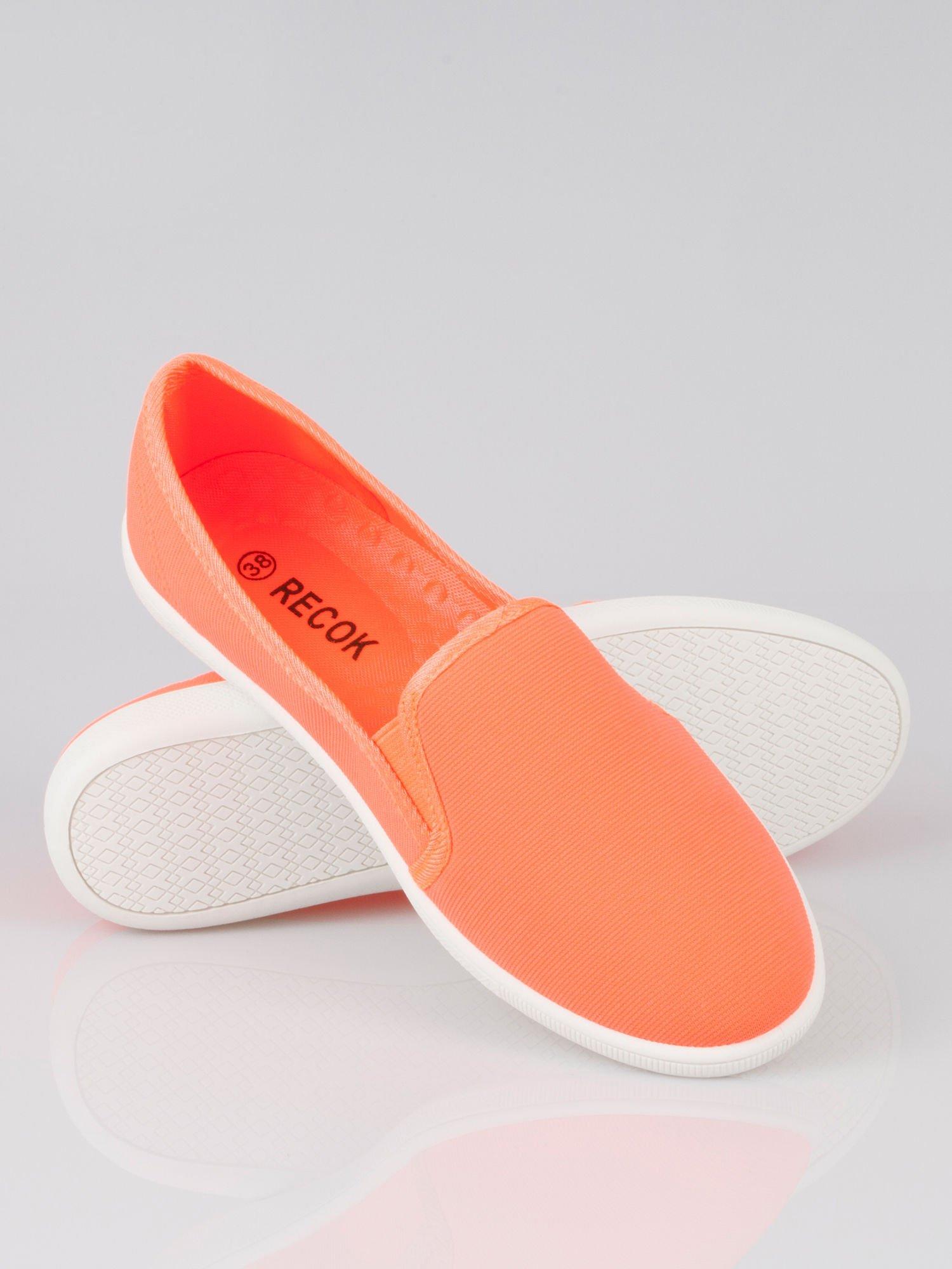 Pomarańczowe lekkie buty sliponki                                  zdj.                                  4