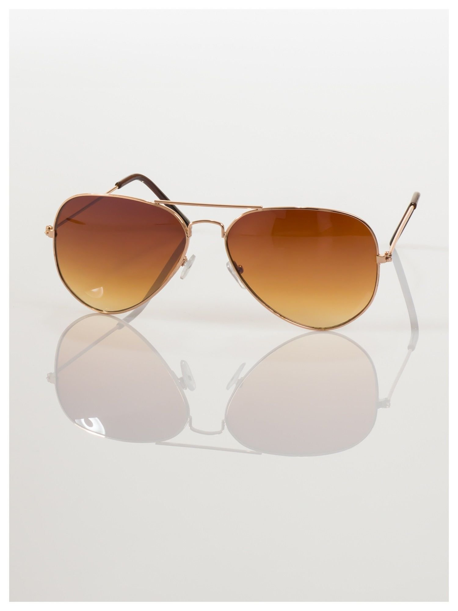 Przepiękne brązowe pilotki -okulary przeciwsłoneczne typu AVIATOR                                  zdj.                                  3