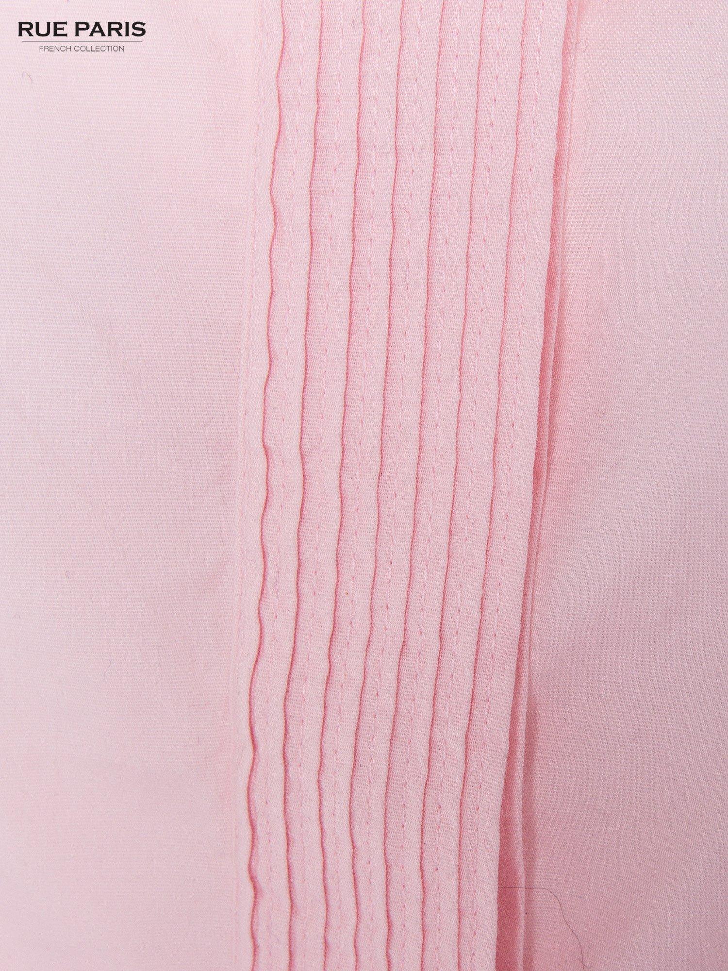 Pudroworóżowa koszula z krytą listwą i guzikami perełkami                                  zdj.                                  6