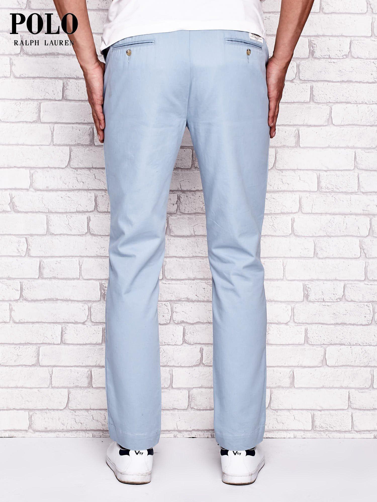b7303186e RALPH LAUREN Jasnoniebieskie spodnie męskie - Mężczyźni Spodnie z materiału  męskie - sklep eButik.pl