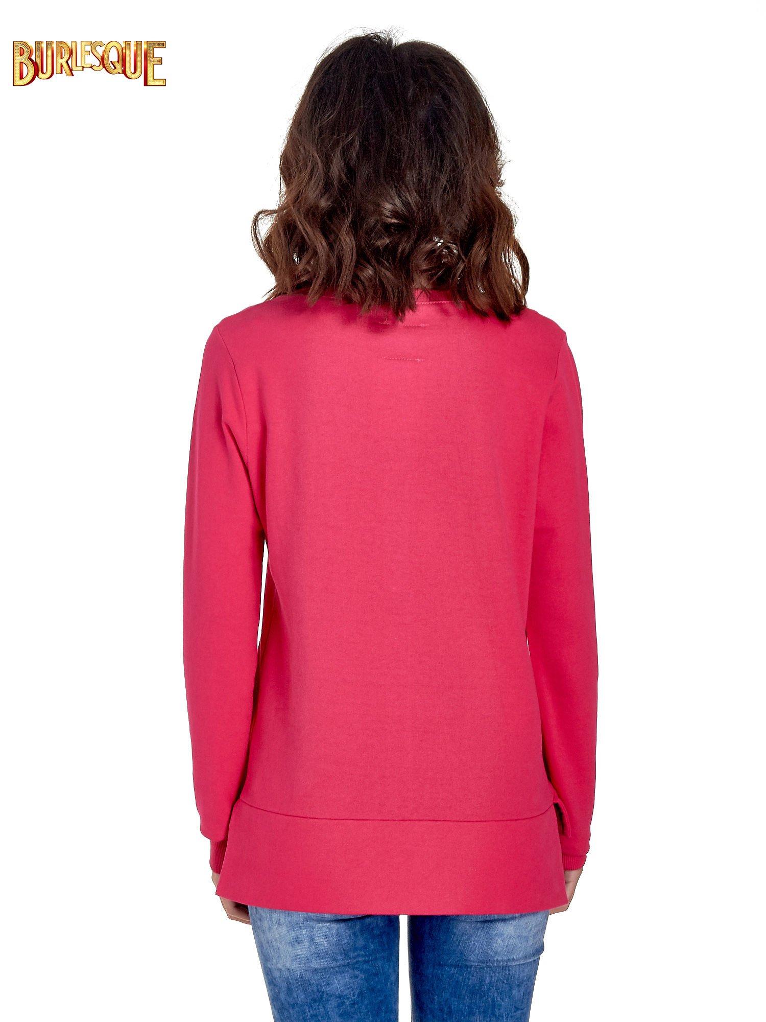 Różowa bluza z napisem LOVE ME i dłuższym tyłem                                  zdj.                                  2