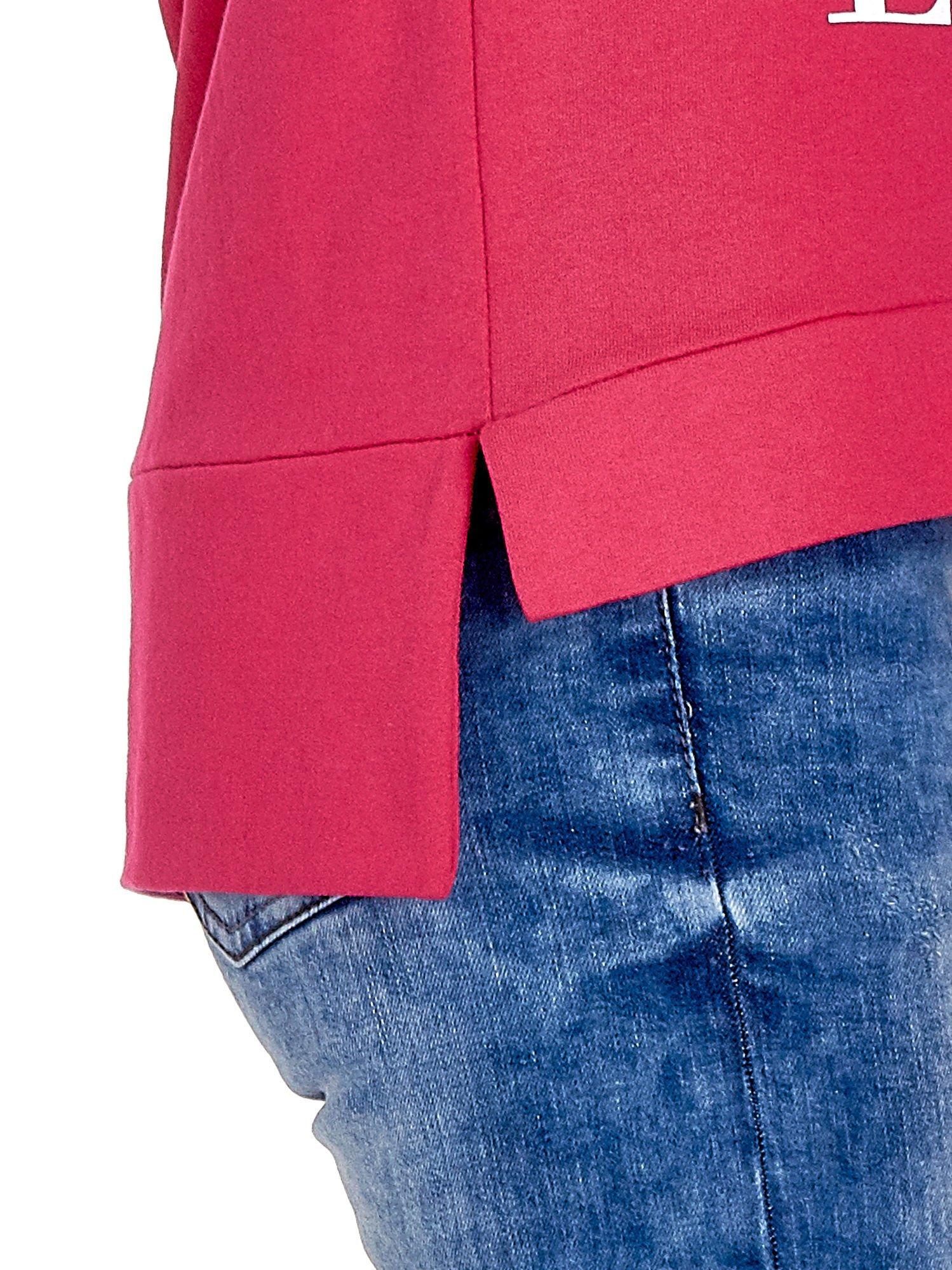 Różowa bluza z napisem LOVE ME i dłuższym tyłem                                  zdj.                                  7