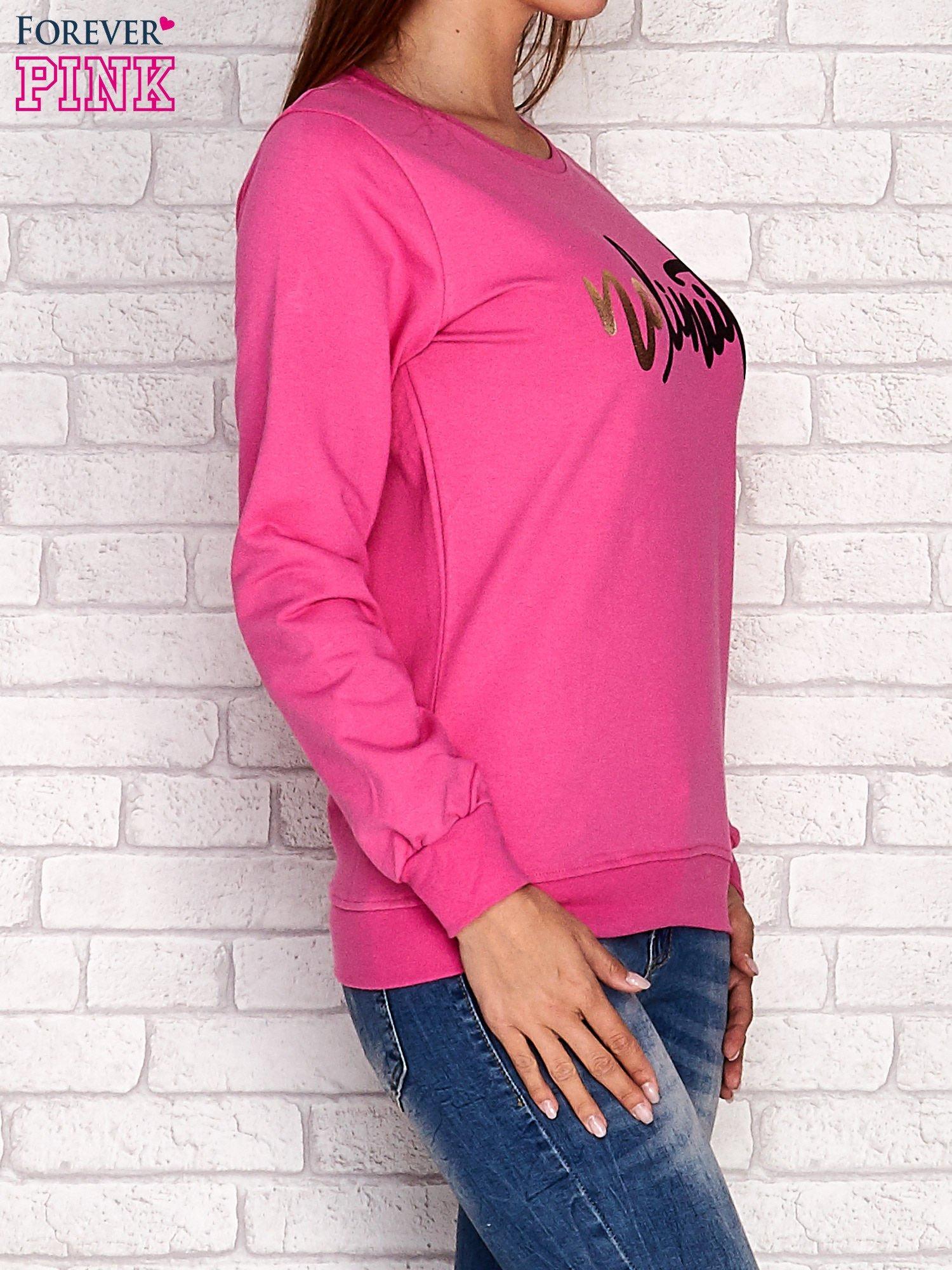 Różowa bluza z napisem NO LIMITS                                  zdj.                                  3